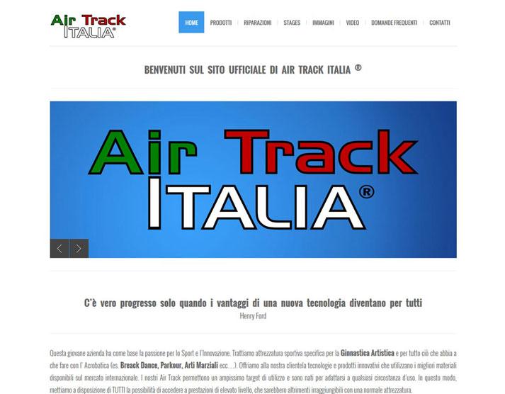 Creazione sito web Air Track Italia S.r.l.: home page | Portfolio FAR