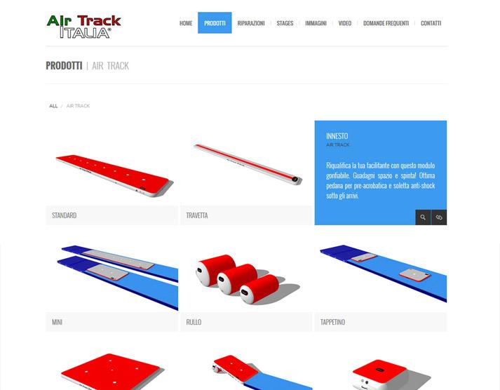 Creazione sito web Air Track Italia S.r.l.: effetti hover | Portfolio FAR