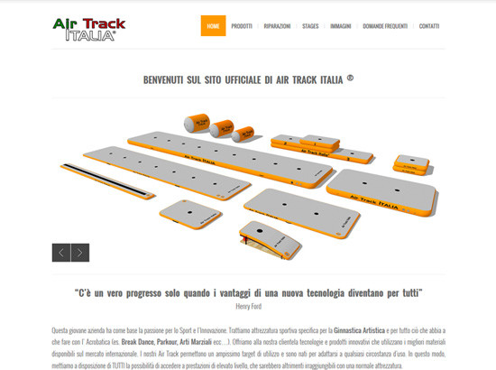 Restyling sito web Air Track Italia | Portfolio FAR