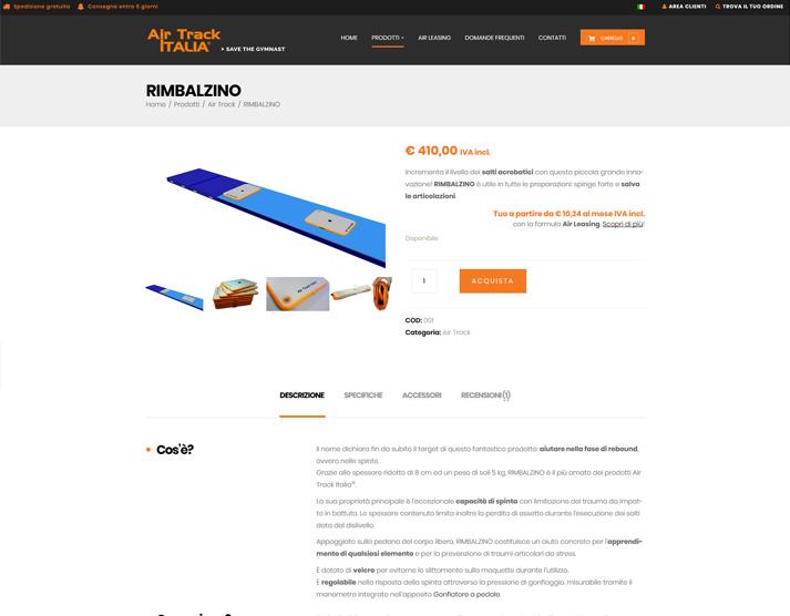 Scheda prodotto airtrackitalia.com