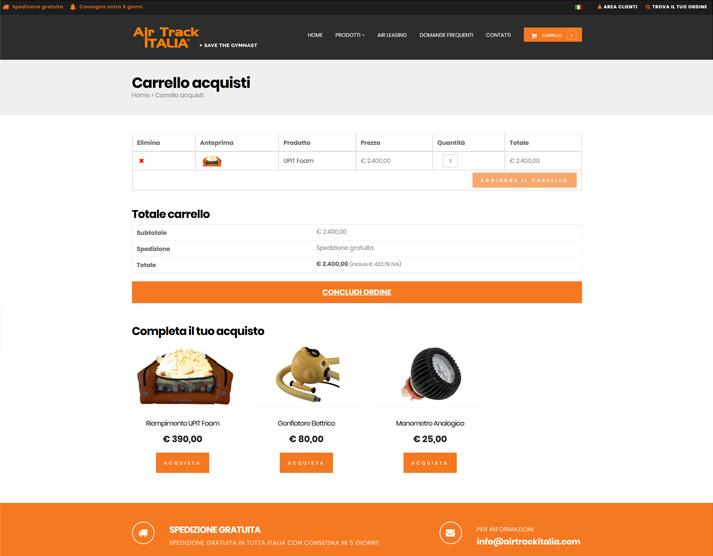 Carrello acquisti airtrackitalia.com