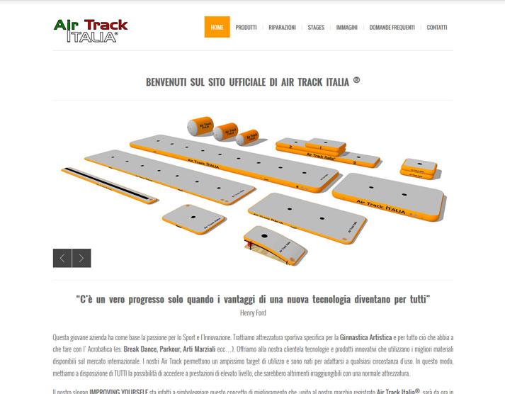 Restyling sito web Air Track Italia: nuovo design home page | Portfolio FAR