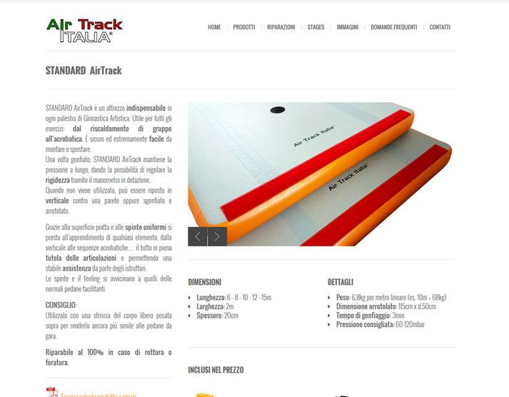 Restyling sito web Air Track Italia: nuovo design pagine prodotti | Portfolio FAR