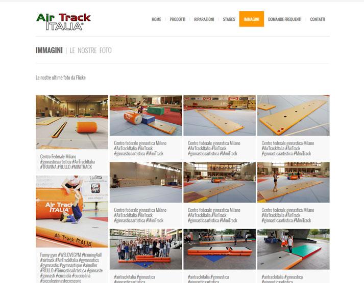 Restyling sito web Air Track Italia: galleria Flickr | Portfolio FAR
