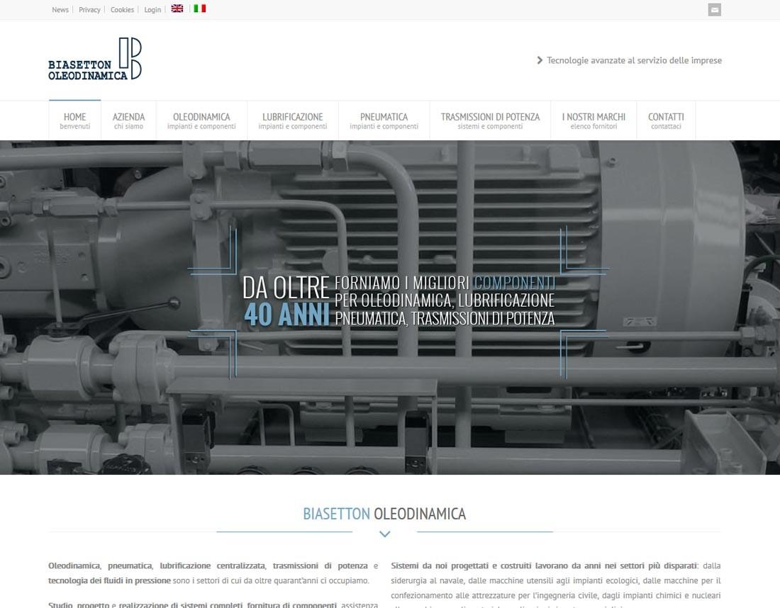 Creazione sito web Biasetton Oleodinamica S.r.l.: home page | Portfolio FAR