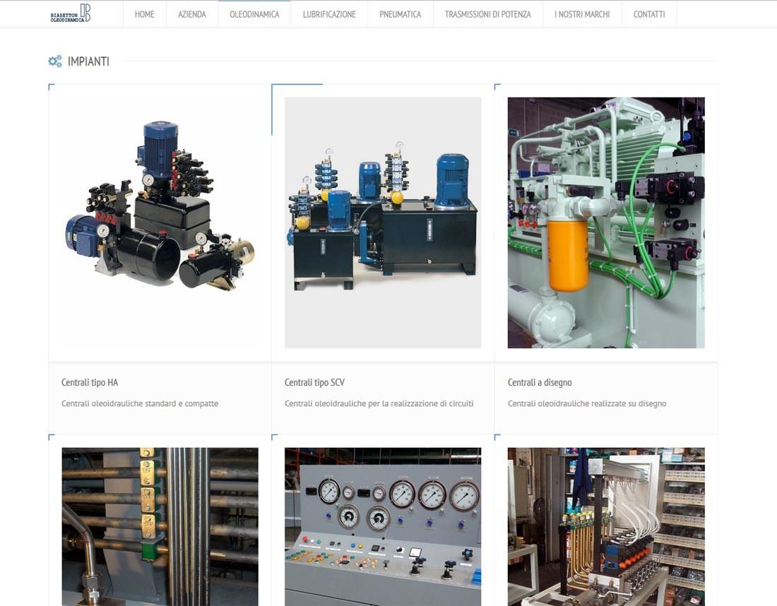 Creazione sito web Biasetton Oleodinamica S.r.l.: prodotti | Portfolio FAR