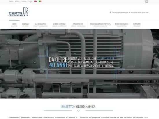 Creazione sito web Biasetton Oleodinamica S.r.l. | Portfolio FAR