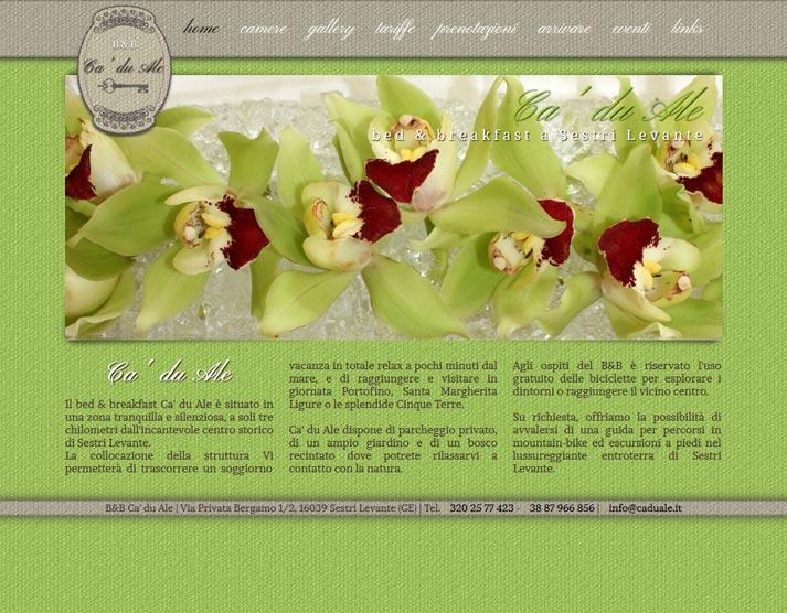 Creazione sito web Ca' du Ale: home page | Portfolio FAR