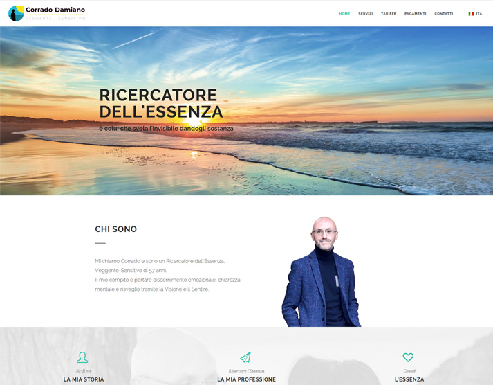 Creazione sito web libero professionista: home