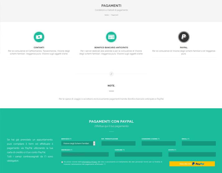 Creazione sito web libero professionista: integrazione PayPal