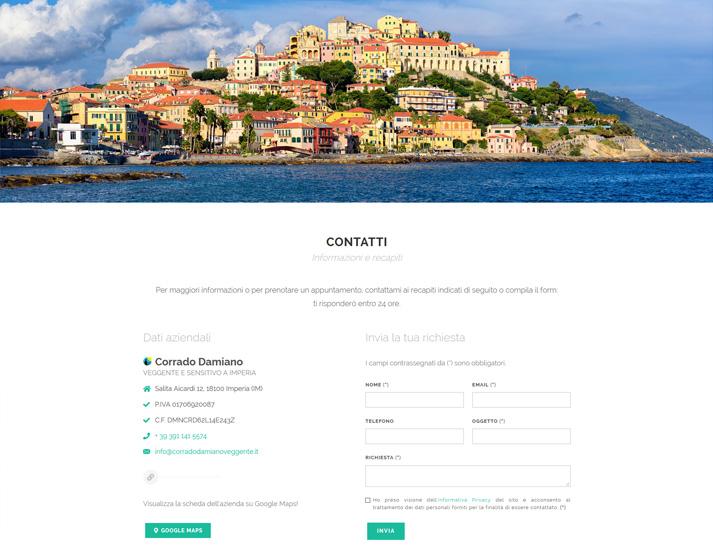 Creazione sito web libero professionista: form contatti