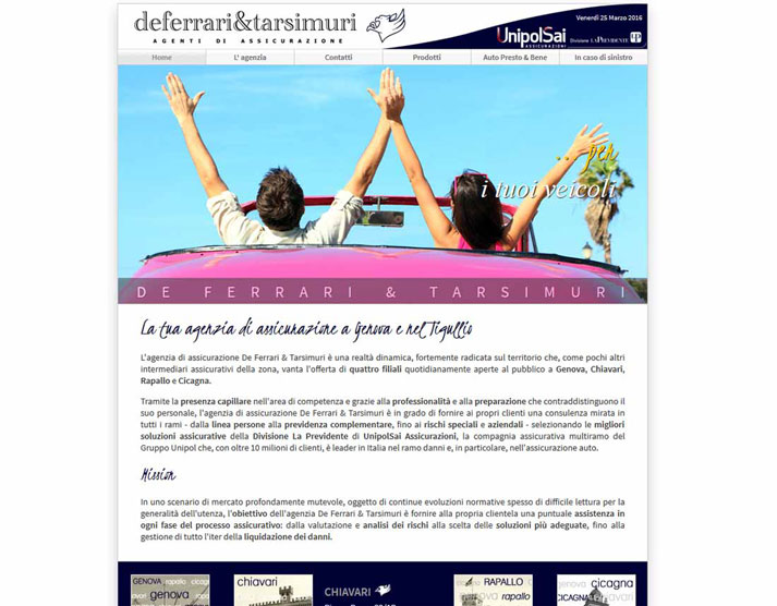 Creazione sito web De Ferrari & Tarsimuri S.n.c.: home page | Portfolio FAR