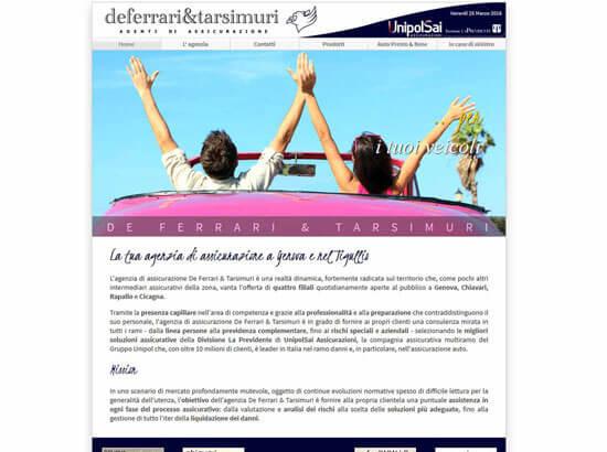 Creazione sito web De Ferrari & Tarsimuri S.n.c. | Portfolio FAR