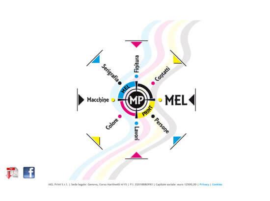 Creazione sito web MEL Print S.r.l. | Portfolio FAR