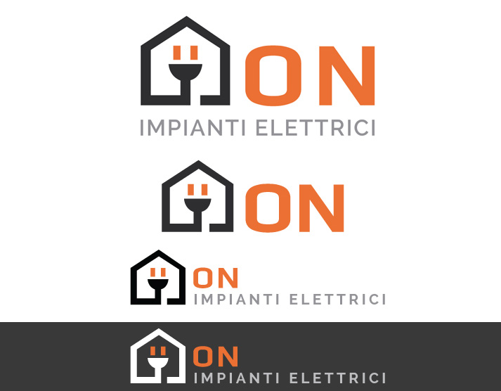 Logo e grafica per la stampa ON Impianti Elettrici: logo | Portfolio FAR
