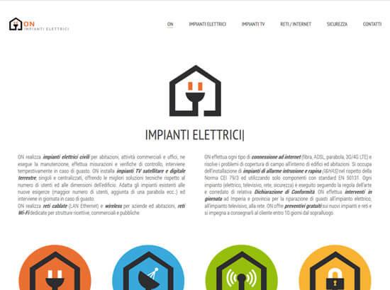Creazione sito web ON Impianti Elettrici | Portfolio FAR