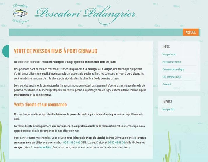 Creazione sito web Pescatori Palangrier: home page | Portfolio FAR