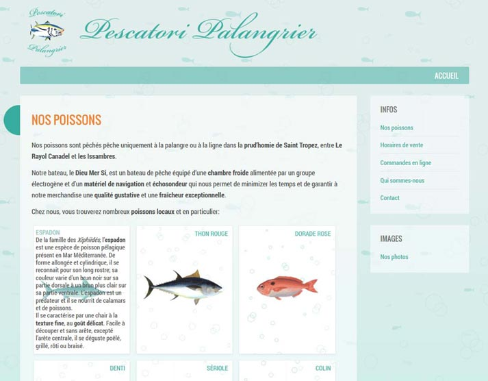 Creazione sito web Pescatori Palangrier: animazioni grafiche | Portfolio FAR