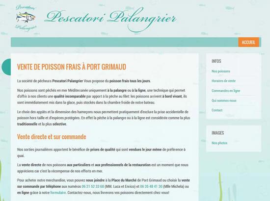 Creazione sito web Pescatori Palangrier | Portfolio FAR