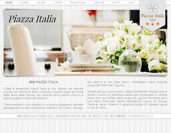 Creazione sito web B&B Piazza Italia: home page | Portfolio FAR