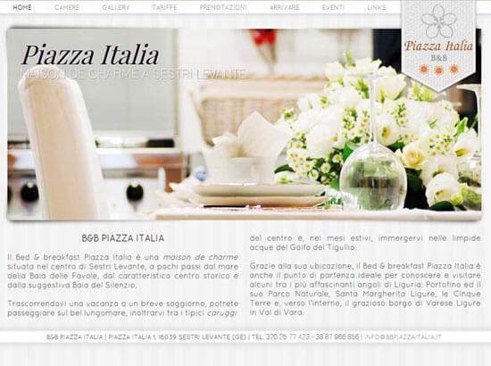 Creazione sito web B&B Piazza Italia | Portfolio FAR
