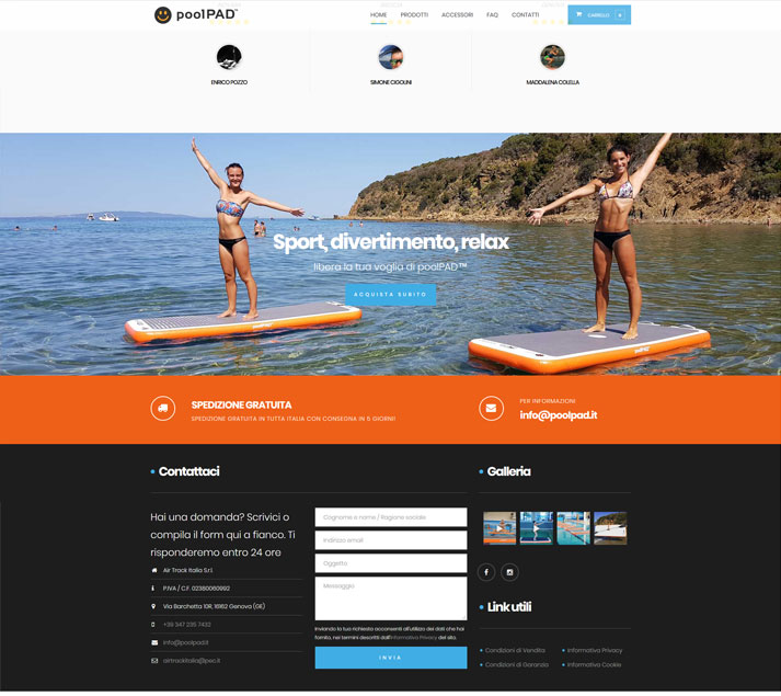 Creazione sito e-commerce poolPAD.it | Portfolio FAR