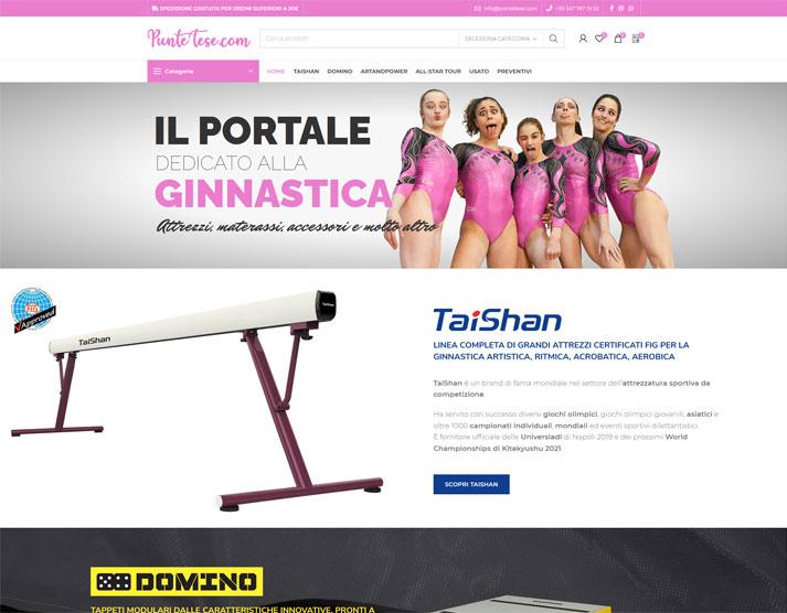 Sito e-commerce PunteTese.com