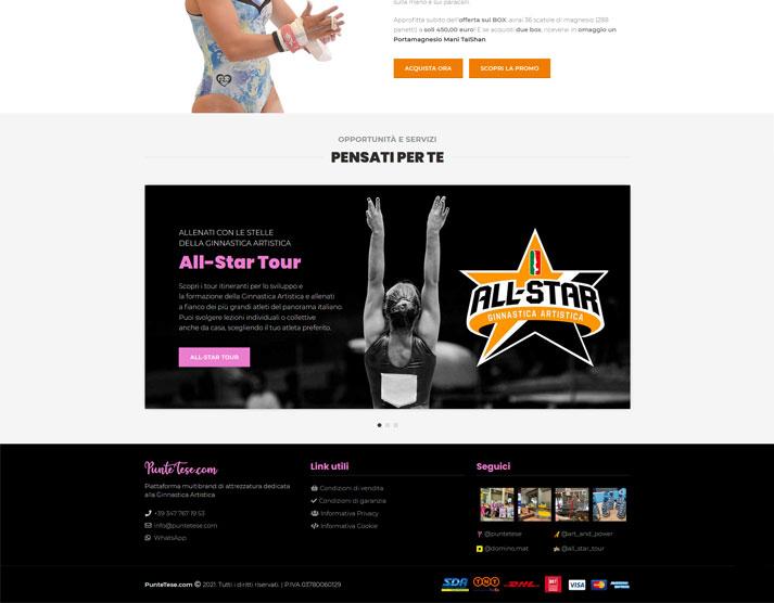 Sito e-commerce PunteTese.com - Footer