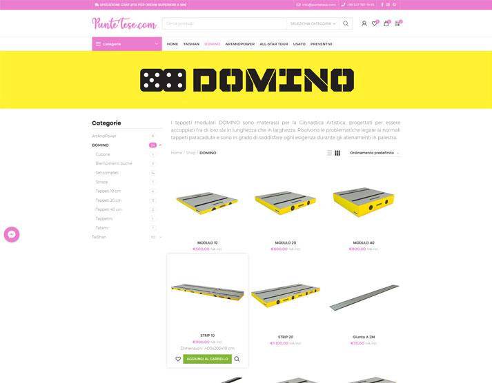 Sito e-commerce PunteTese.com - Shop DOMINO