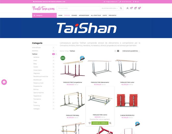 Sito e-commerce PunteTese.com - Shop TaiShan