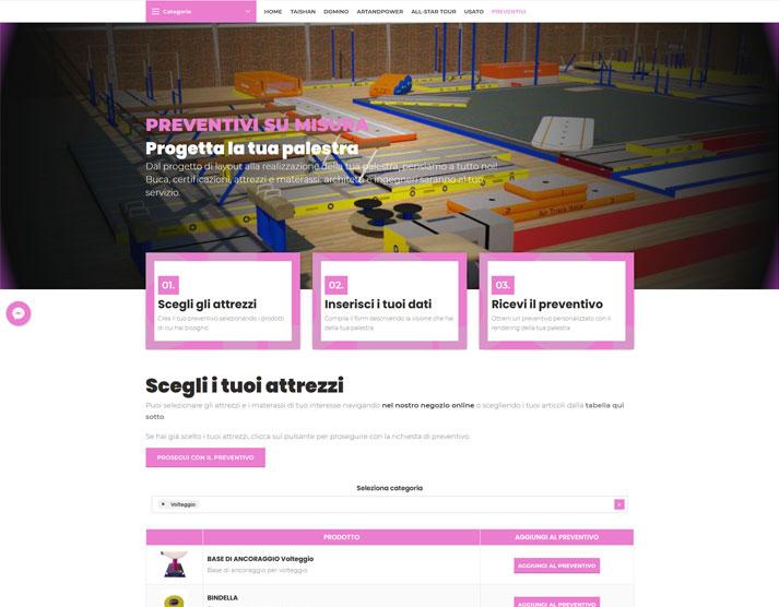 Sito e-commerce PunteTese.com - Sezione Preventivi
