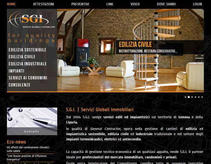 Creazione sito web S.G.I. S.r.l.: home page | Portfolio FAR