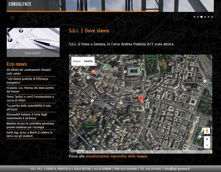 Creazione sito web S.G.I. S.r.l.: Google Maps | Portfolio FAR