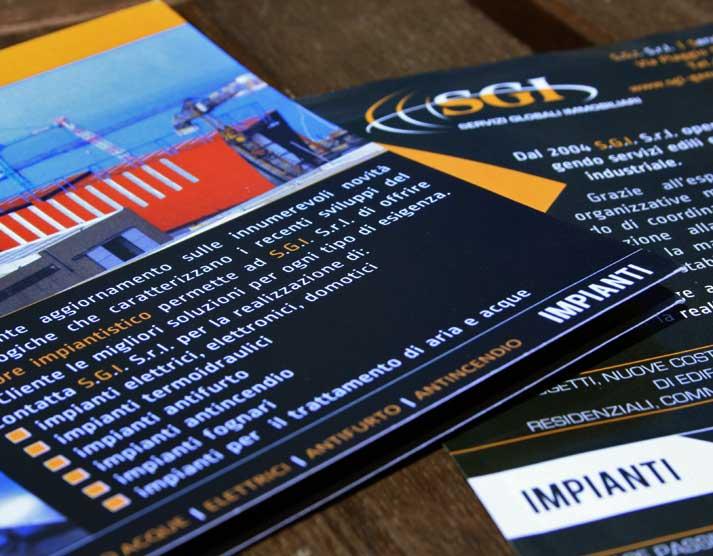 Grafica coordinata S.G.I. S.r.l.: brochure e volantini | Portfolio FAR