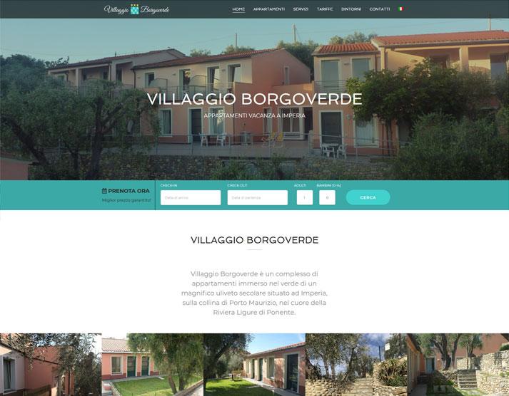 Home page sito web Villaggio Borgoverde