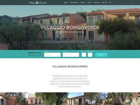 Anteprima sito web Villaggio Borgoverde