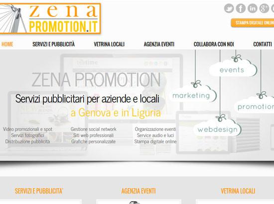 Creazione sito web Zena Promotion | Portfolio FAR